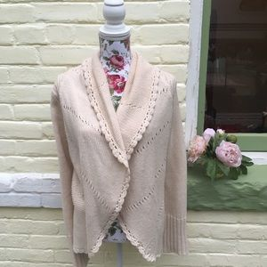 Anthropologie Trinity Ivory/ Cream Knit Sweater